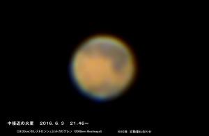 火星の中接近